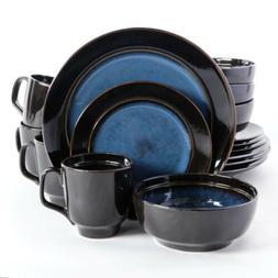 Gibson Elite Bella Galleria 16 Piece Dinnerware Set, Blue