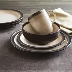 Better Homes and Gardens 16-Piece Sierra Dinnerware Set Beig