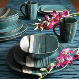 Better Homes & Gardens Bazaar 16-Piece Dinnerware Set Teal/B