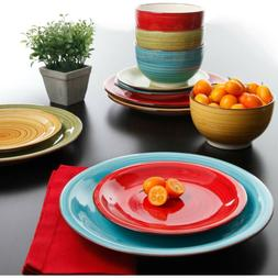 Dinnerware Set 12 Pieces Plates Kitchen Dishes Dinner Bowls