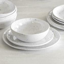 Better Homes & Gardens Grey Terazzo Melamine 12 pc Dinnerwar