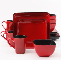 Better Homes & Gardens Rave Square Dinnerware, Red, Set Of 1