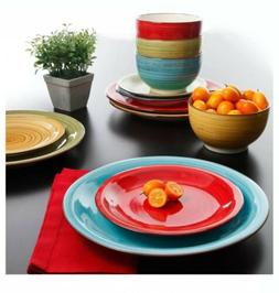 Better Homes Gardens Festival Dinnerware Assorted Color Kitc