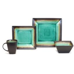 Better Homes and Gardens Jade Crackle 16-Piece Dinnerware Se