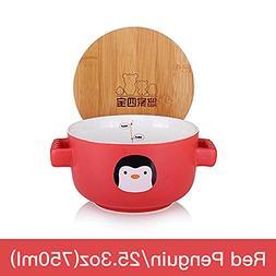 UPSTYLE Cute Cartoon Ceramic Soup Bowl Big Capacity Coffee M