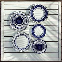 Oxford 20 Piece Biona Colb Dinnerware Place Setting, White
