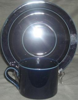 Dansk Bistro Blue Cup & Saucer Set