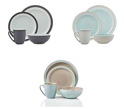 Denby Blends Azure, Peveril and Truffle 12 Pc Dinnerware Set