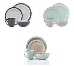 Denby Blends Azure, Peveril and Truffle 12 Pc Dinnerware Set