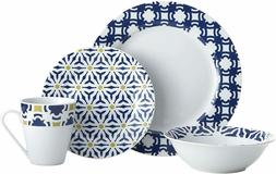 Oneida Blue Capella 16 Piece Dinnerware Set, Service for 4 N
