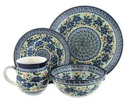 Blue Rose Polish Pottery Lidia 4 Piece Dinner Set