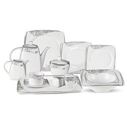 Lorren Home Trend 57-Piece Bone China Dinnerware Set