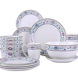 MoseChina~ 17 - Piece Premium Bone China Dinnerware Complete