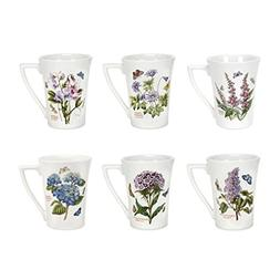 Portmeirion Botanic Garden Set of 6 Mandarin Mugs