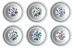 Portmeirion Botanic Garden Oatmeal/Soup Bowls, Set of 6 Asso