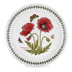Portmeirion Botanic Garden Salad Plate, Poppy Motif, Set of