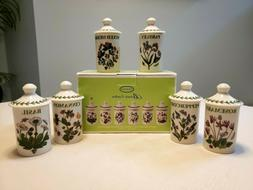 Portmeirion Botanic Garden Set of 6 Assorted Motif Spice Her