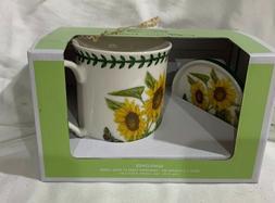 Portmeirion Botanic Garden Sunflower Mug and Coaster Set NIB