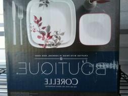 Corelle® Boutique Kyoto Leaves Square 16-Piece Dinnerware S