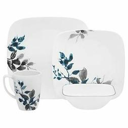 Boutique Kyoto Night 16-Piece Dinnerware Set in Blue and Gra