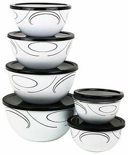 Corelle Coordinates 12-Piece Large Bowl Set, Simple Lines by