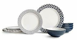 Bowla 12-Piece Melamine Dinnerware Set - Service for 4