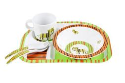 Lassig BPA-free Matching Melamine Dinnerware Dish Set includ
