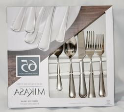 Brand New Mikasa 18/10 Stainless Steel, 65 piece Silverware