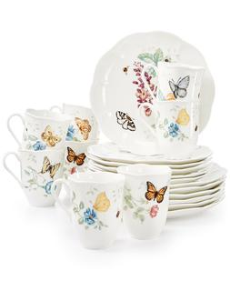 Brand new sealed Lenox Butterfly Meadow 18-piece Dinnerware
