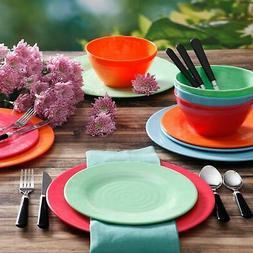 Gibson Home Brela 12-Piece Melamine Dinnerware Set, Service