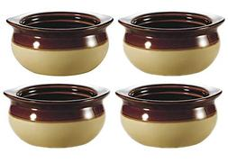 Ecodesign Bowls - Set of 4 - Brown and Ivory French Onion So