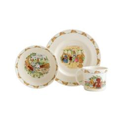 Royal Doulton Bunnykins 3-Piece Children's Set, Assorted Sty