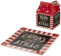 Burton and Burton Milk and Cookies for Santa Gift Set, Ceram