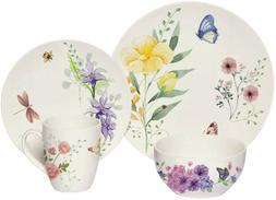 Melange Butterfly Garden 16-piece Oven Safe Dinnerware Set f