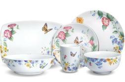 Pfaltzgraff Butterfly Garden 34-Piece Dinnerware Service/8 w