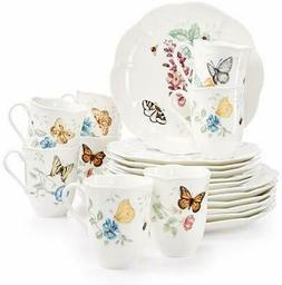 Lenox Butterfly Meadow 18-piece Dinnerware Set + 2 Bonus Mug