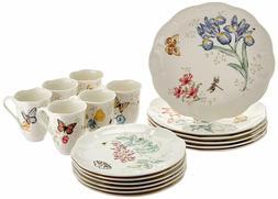 Lenox Butterfly Meadow 18-Piece Dinnerware Set, Service for