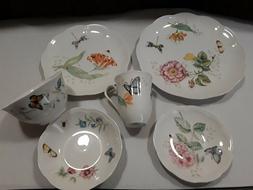 Lenox butterfly meadow 24-piece porcelain dinnerware set