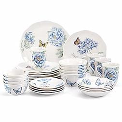 Lenox Butterfly Meadow Blue Dinnerware Set 28 Piece Service