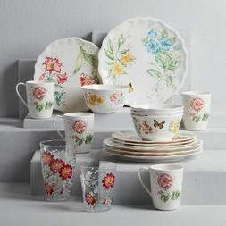 butterfly meadow melamine 20 piece dinnerware set