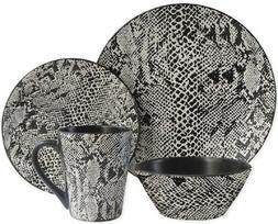Buy American Atelier Snake Skin 16-Piece Dinnerware Set Serv