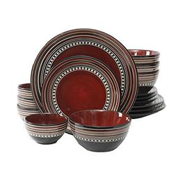 Gibson Elite Caf� Versailles 16-piece Double Bowl Red Dinn