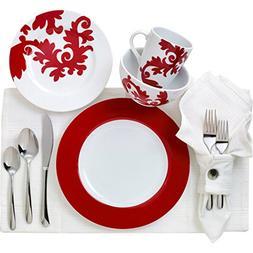 Euro Ceramica Calarama Collection 16 Piece Porcelain Dinnerw