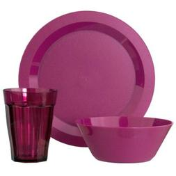 Cambridge Plate, Bowl and Tumbler Dinnerware 12 Piece Set Pl