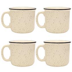 Culver 14-Ounce Campfire Ceramic Mug Set of 4