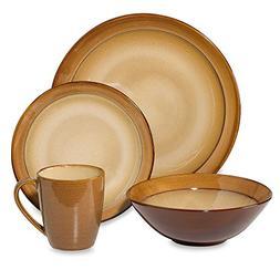 caramel dinnerware set