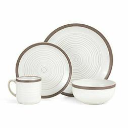 Pfaltzgraff Carmen Brown 16-Piece Stoneware Dinnerware Set,