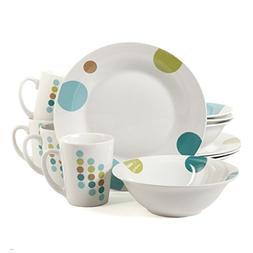 Gibson Casual Elegance 12-Piece Round Ceramic Porcelain Dinn