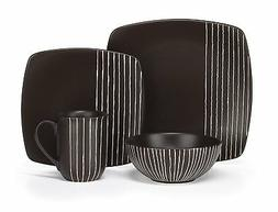 Cuisinart CDST1-S4B Stoneware Arette Collection 16-Piece Din