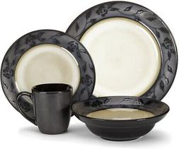 Cuisinart CDST1-S4G4 Stoneware Abilly Collection 16-Piece Di